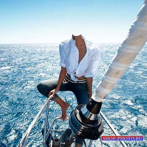 Прогулка на яхте - шаблон для фотомонтажа