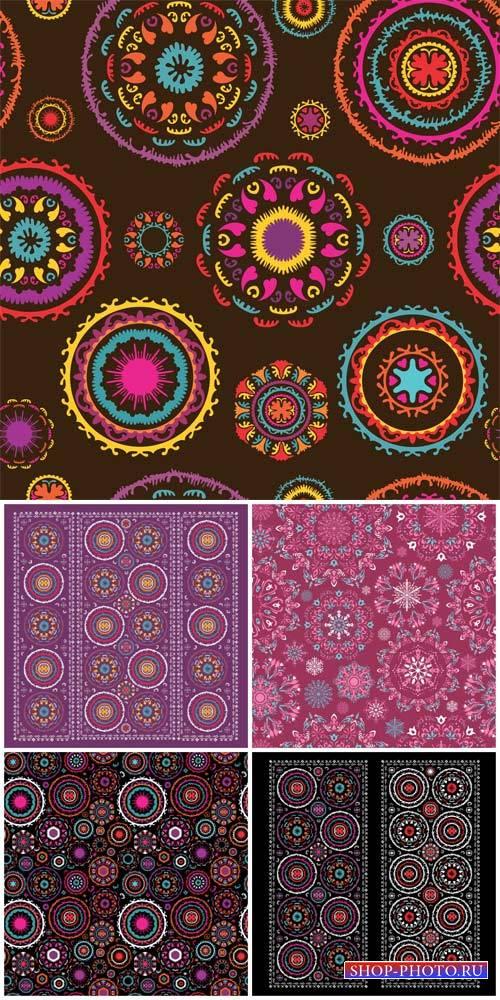 Векторные фоны с узорами / Vector backgrounds with patterns # 8