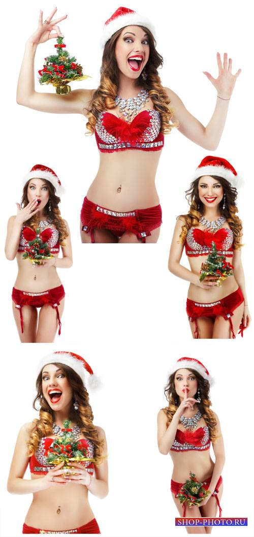 Новогодняя девушка / Christmas girl - Stock Photo