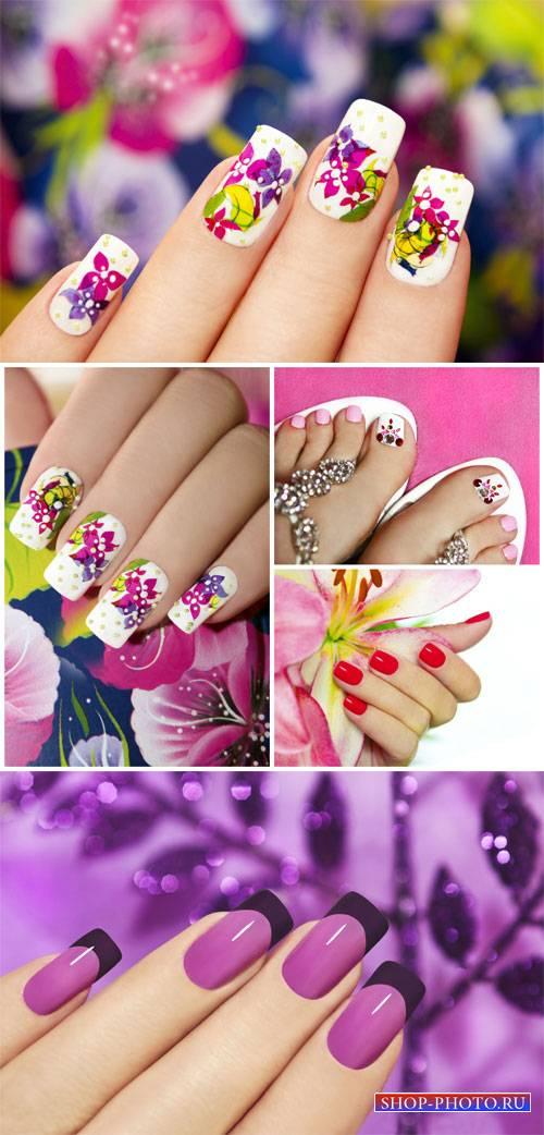 Маникюр, красивые женские руки, педикюр / Manicure - Stock photo
