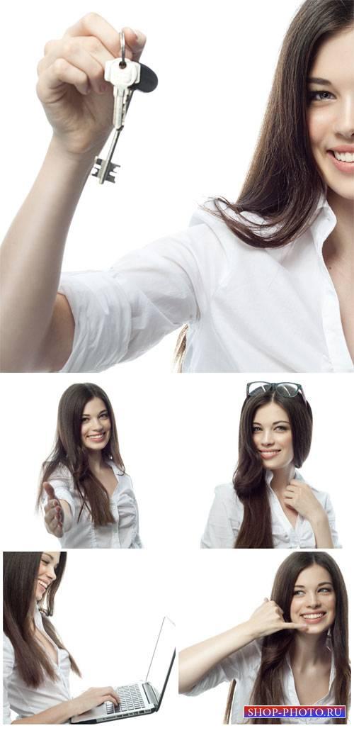 Красивая бизнес женщина / Beautiful business woman - Stock Photo