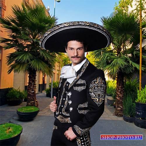 Шаблон  мужской - Мексиканский мариачи