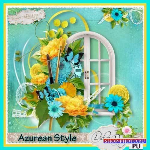 Цветочный скрап-комплект -  Azurean Style