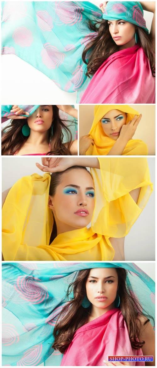 Красивая девушка стильная девушка / Beautiful girl, stylish girl - Stock Ph ...