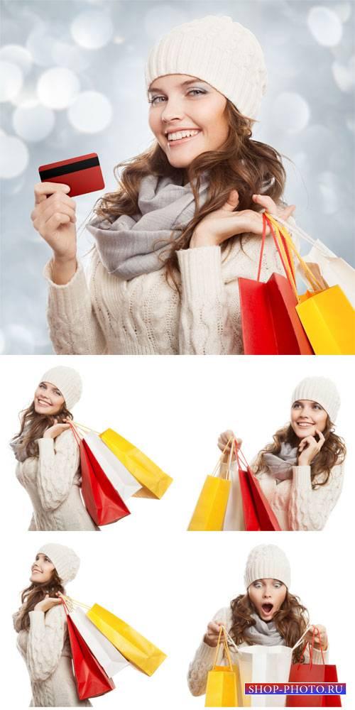 Покупки, распродажи, девушка с покупками / Purchase, sale, woman shopping - ...