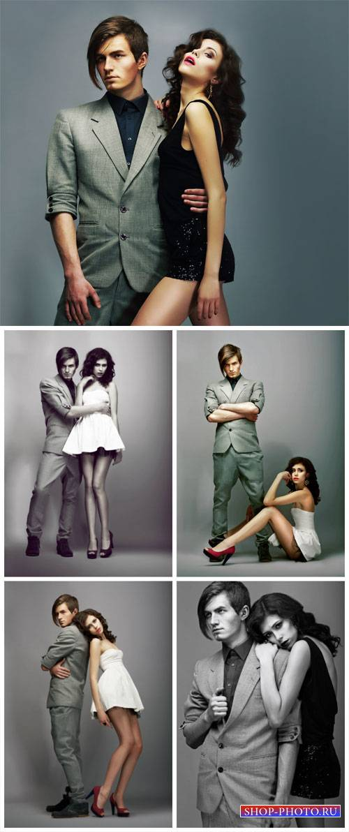 Гламурная пара, стильные молодые люди / Glamorous couple