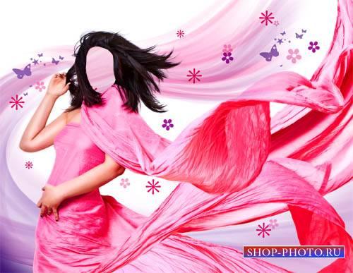 Женский шаблон - Яркое платье