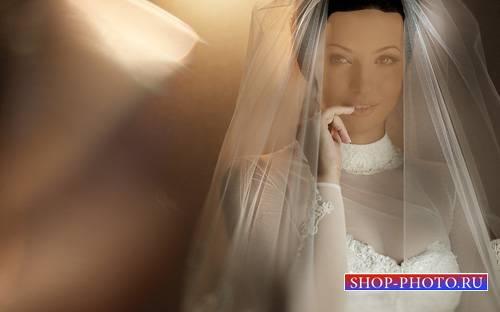 Женский шаблон - Невеста в белом платье
