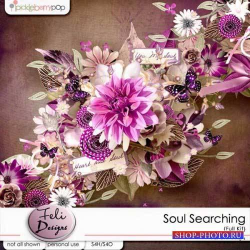 Цветочная скрап-комплект - Soul Searching