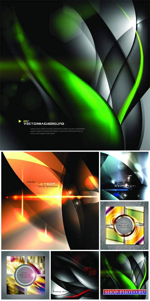 Vector backgrounds with abstraction # 22