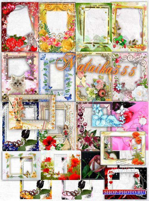 Цветочные рамки для фото - Сладкие воспоминания о лете