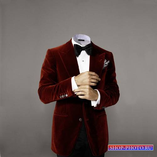 Шаблон для мужчин - В красном пиджаке