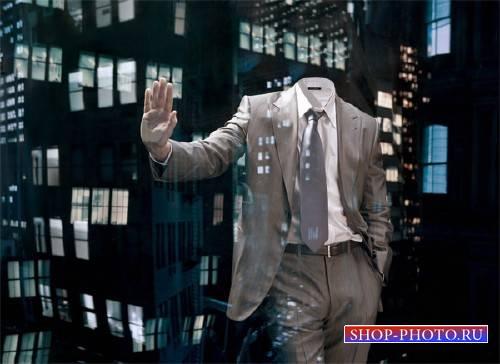 Шаблон для мужчин - Бизнесмен в мегаполисе