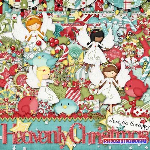 Рождественнский скрап-комплект - Небесное рождество