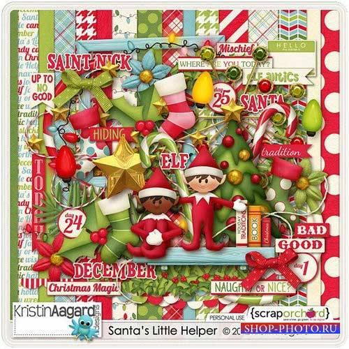 Новогодний скрап-комплект - Маленький помошник Санты