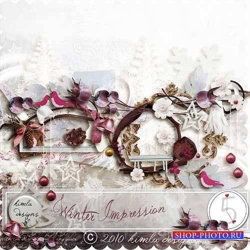 Нежный зимний скрап-комплект - Зимние впечатления
