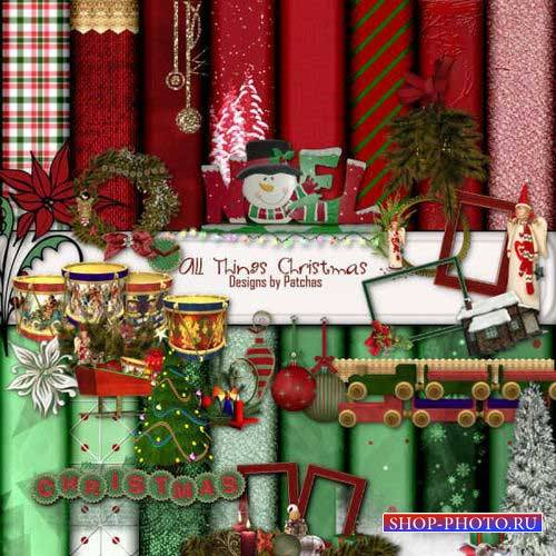 Новогодний скрап-комплект - Атрибуты Рождества
