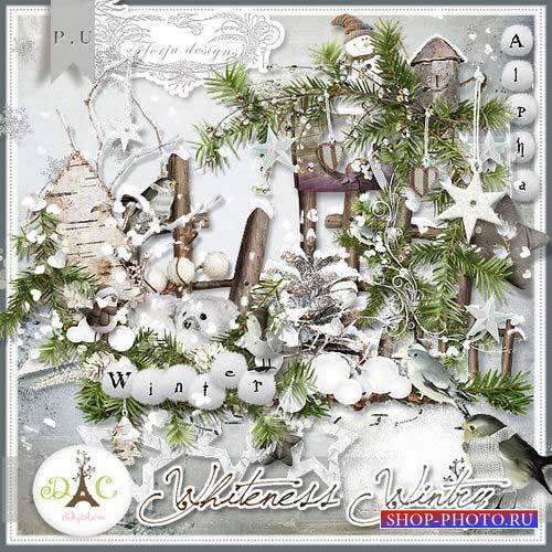 Зимний скрап-комплект - Зимняя белизна