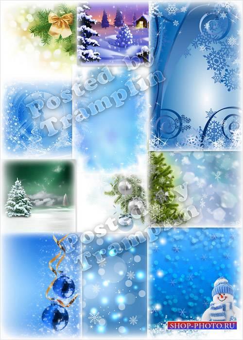 Новогодние фоны - Снежинки падали с небес