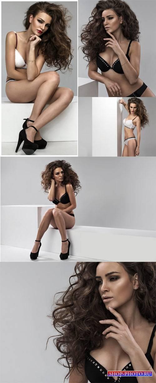 Stylish girl in lingerie - female stock photos