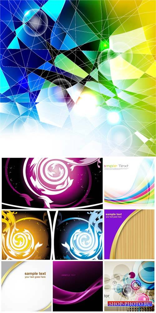 Vector backgrounds, abstraction with colored elements