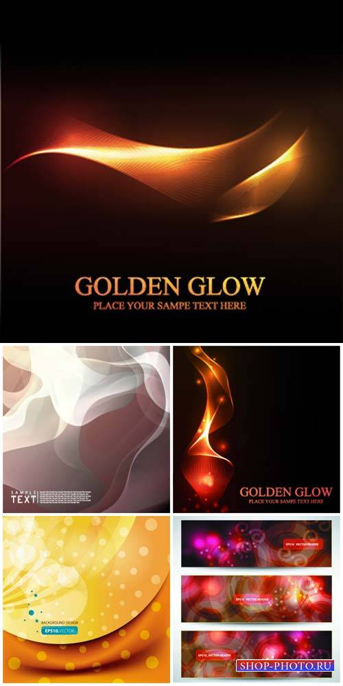 Golden glow, vector backgrounds