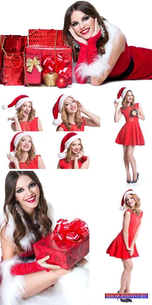 Christmas girl, Christmas costumes - stock photos