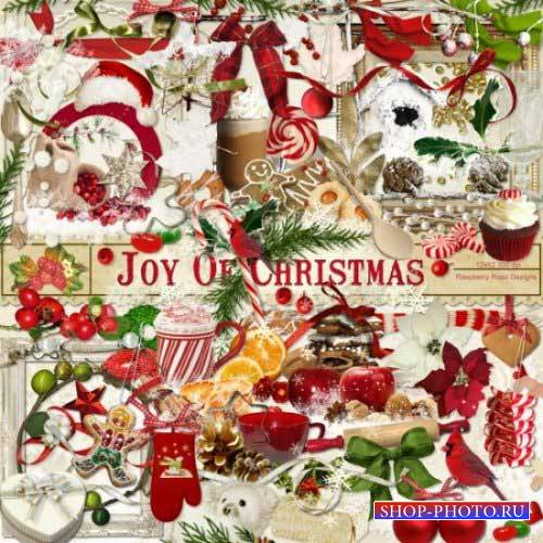 Новогодний скрап-комплект - Радость Рождества