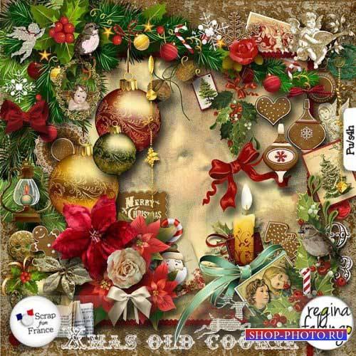 Новогодний скрап-комплект - Xmas Old Cookie