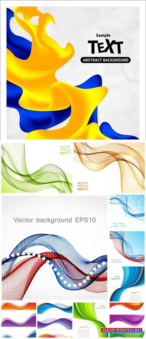Vector backgrounds with abstraction # 33