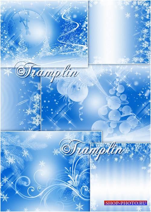 Голубые Новогодние Фоны  - Backgrounds new years