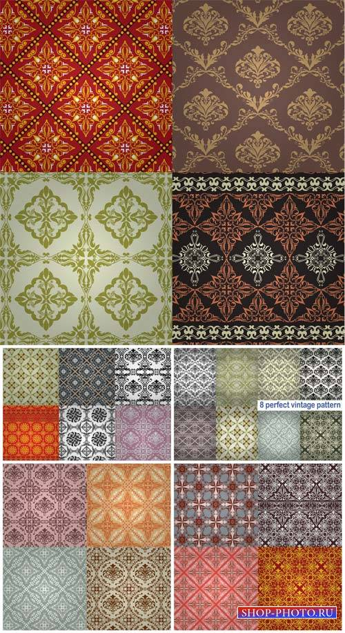 Vector texture, vintage background with patterns