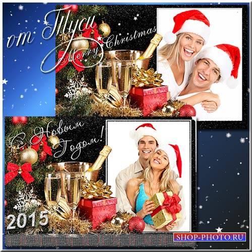Рамка, календарь, коллаж - Новогодние чудеса царят вокруг