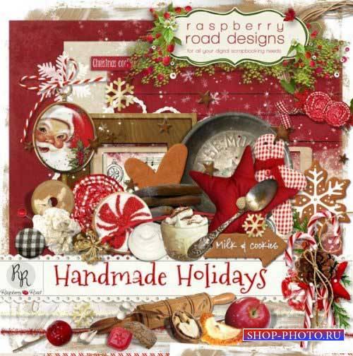 Рождественский скрап-набор - Самодельные праздники