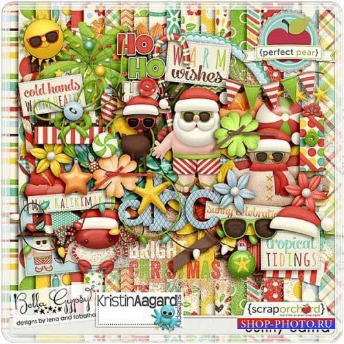 Праздничный скрап-комплект - Солнечный Санта