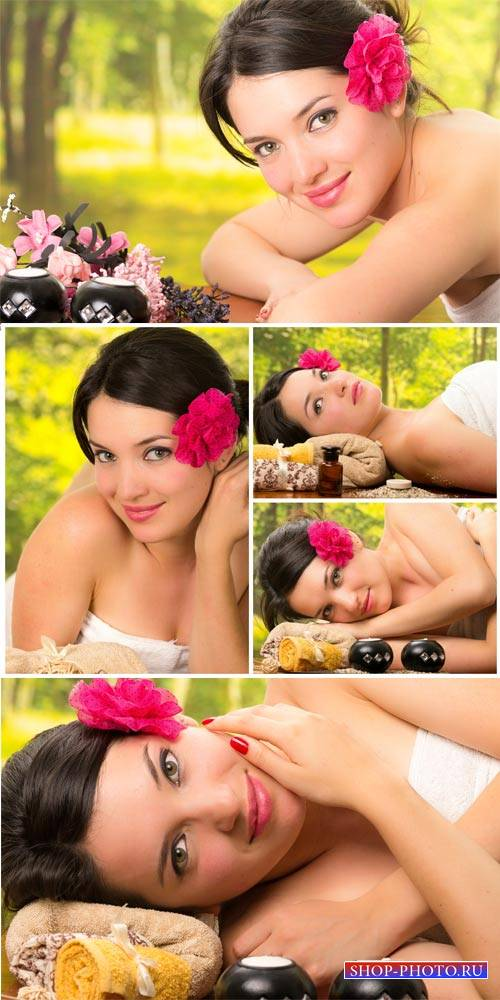 Girl on spa treatments, health and beauty - stock photos