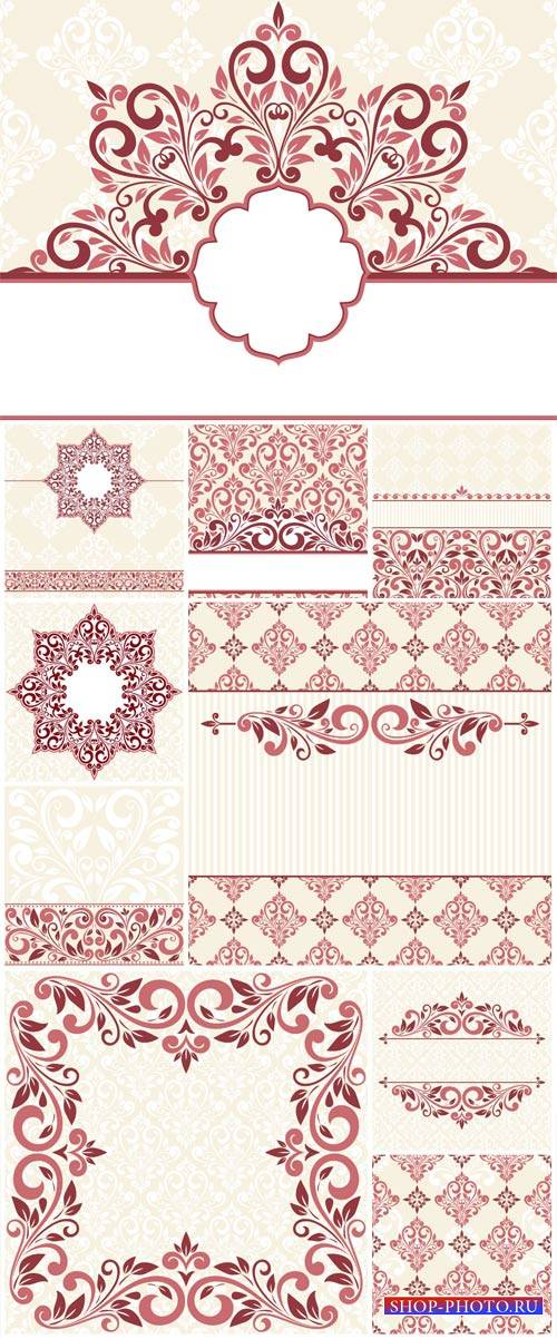 Beautiful patterns, vintage backgrounds vector