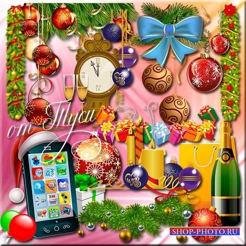 Клипарт - Новогоднее ощущение – сказочных чудес воплощение
