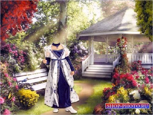Шаблон для photoshop - В костюме маленькая фея
