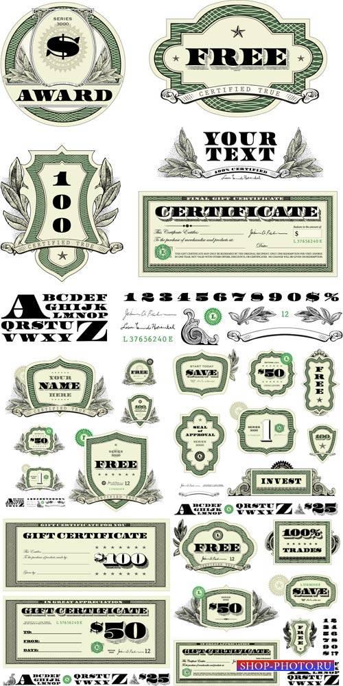 Money #3, vector elements