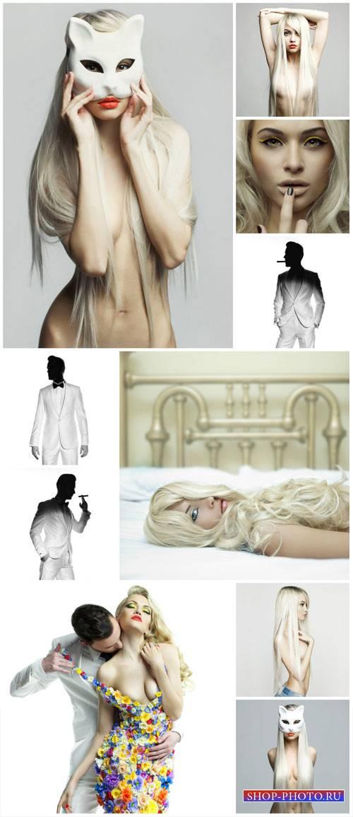 Men and women, fashion people - Stock photo