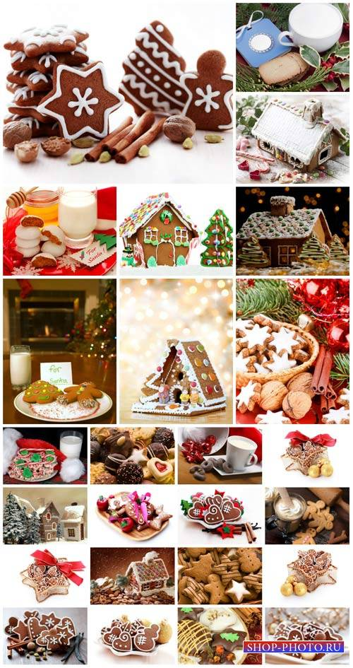 Christmas cakes and sweets - stock photos