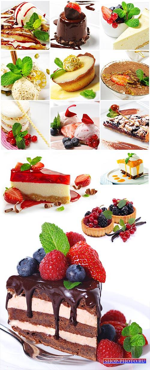 Desserts, cakes - stock photos