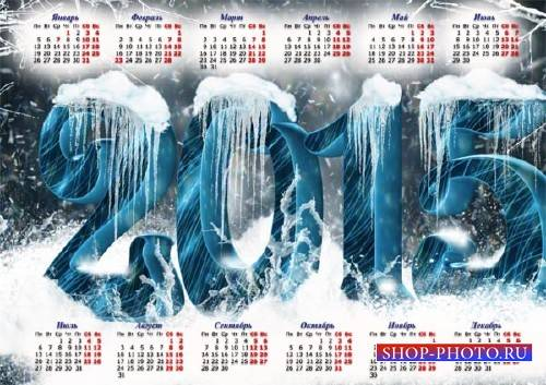 Календарная сетка - Ледяные цифры