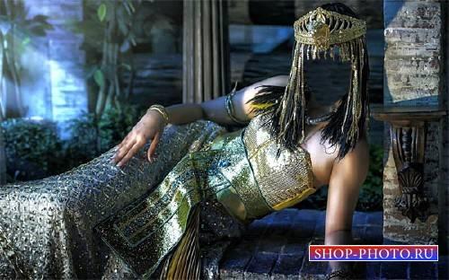 Шаблон psd - Царица Египта в наряде