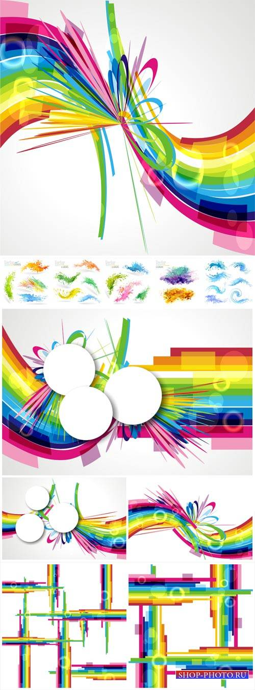Vector backgrounds, color abstraction # 45