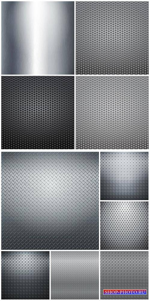 Metal backgrounds vector # 3