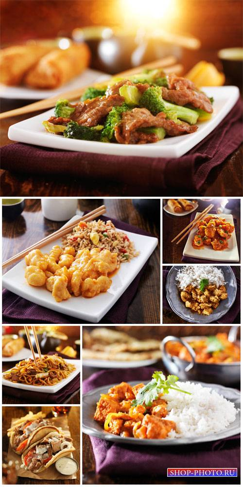 Delicious food, chinese food - Stock Photo