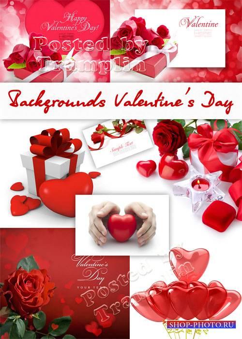 Фоны День Святого Валентина – Розы сердца