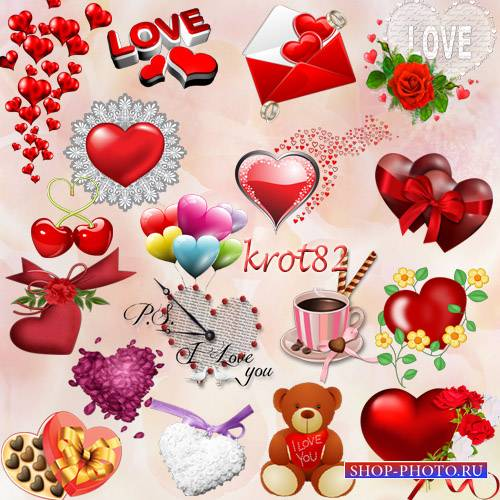 Подборка клипарта на прозрачном фоне – Сердце, сердечки, конверт с сердечка ...